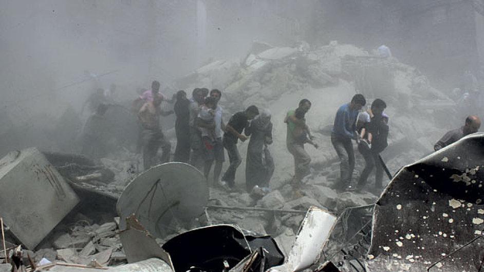 Útok chemickými zbraněmi - Ilustrační foto.