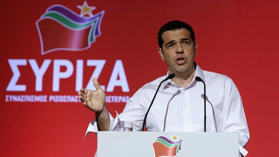 Řecký premiér Alexis Tsipras na setkání jeho vládnoucí strany Syriza.