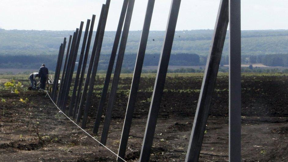 Ukrajina, plot v Soloti