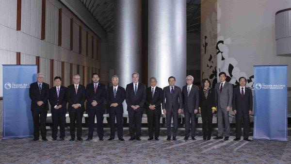 USA podepsaly s 11 st�ty rozs�hlou obchodn� dohodu TPP.