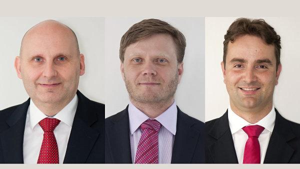 Stanislav Uma, Jiří Střelický a Michal Brothánek, členové představenstva ČSOB Pojišťovny
