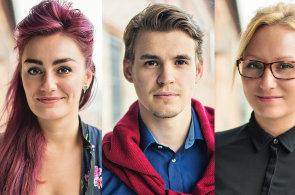 Dana Yousifová, Filip Mandík a Lenka Cikhartová, digitální agentura Etnetera Motion