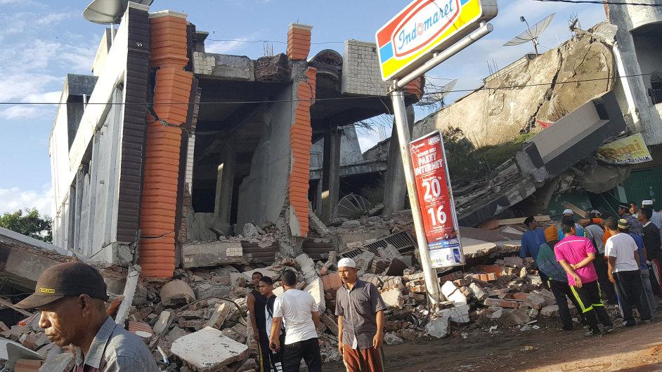 Indonésie, zemětřesení