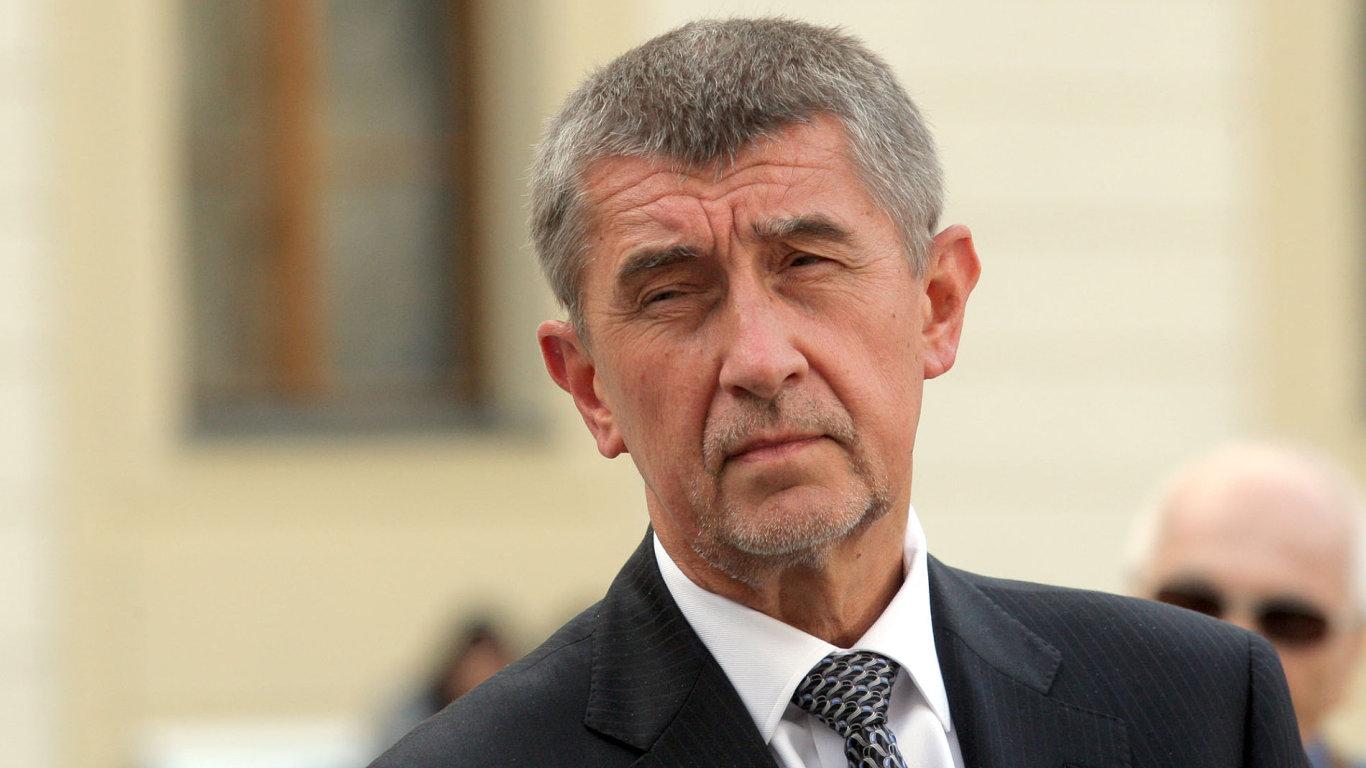 Andrej Babiš na Pražském hradě.