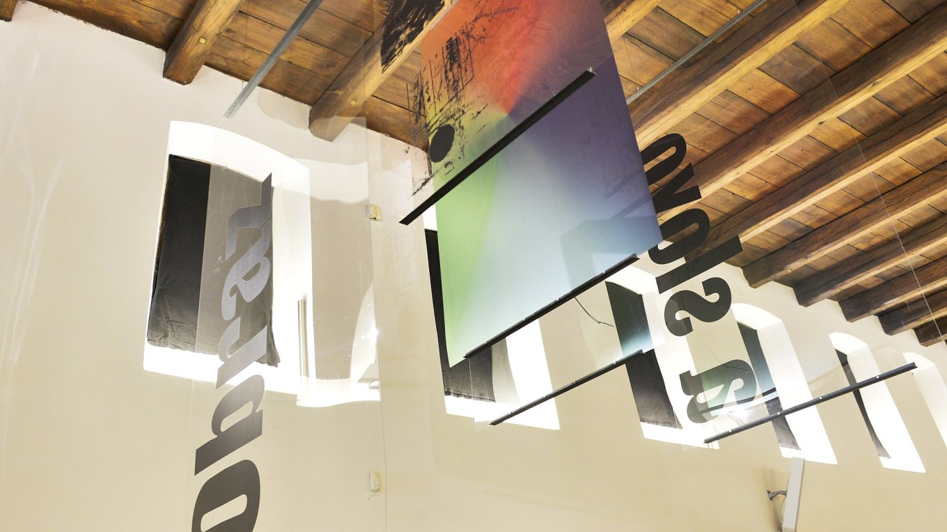 Snímek z výstavy Obraz a slovo.