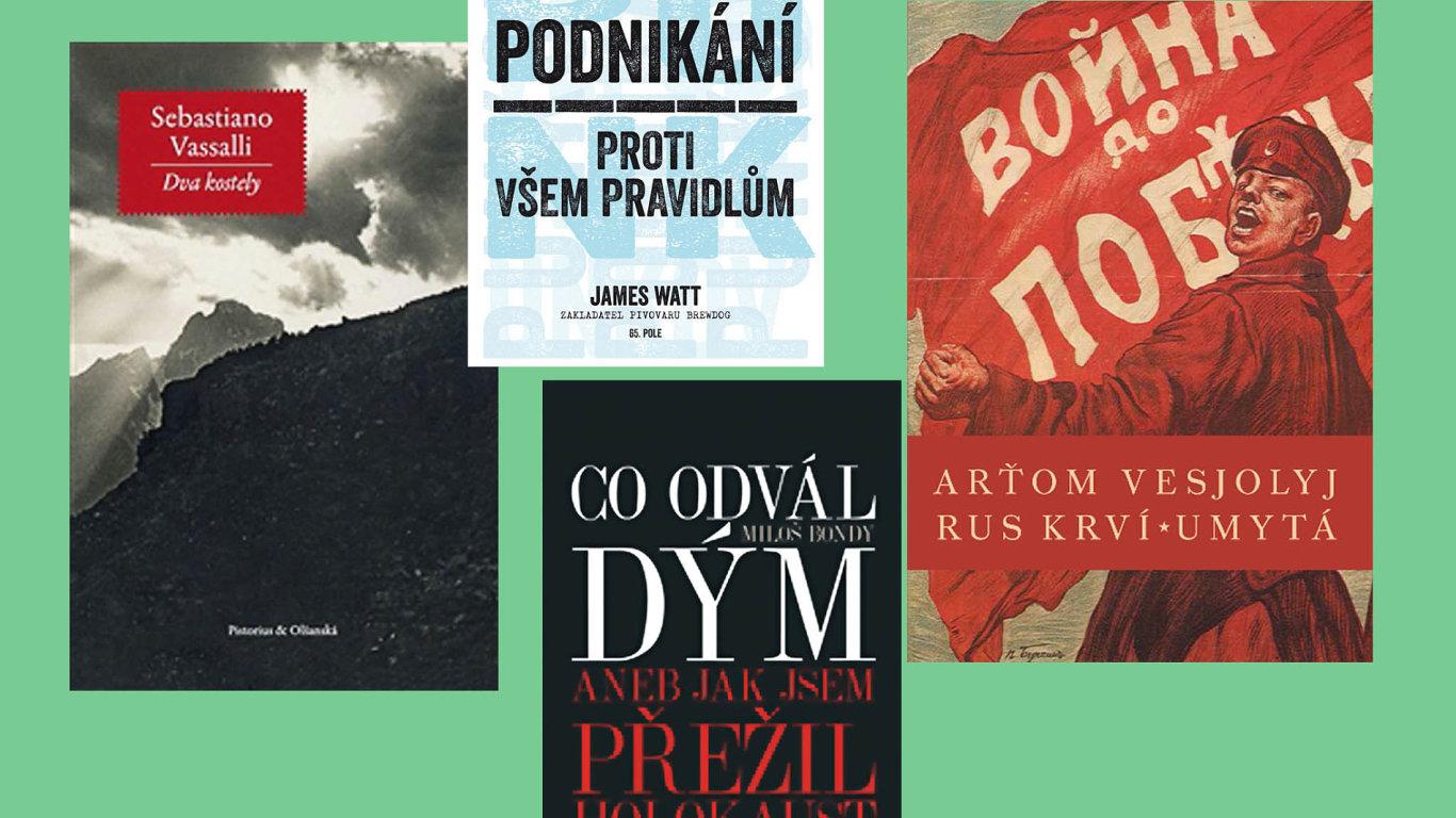Na snímku jsou některé z titulů, které se budou prodávat na veletrhu Knihex.