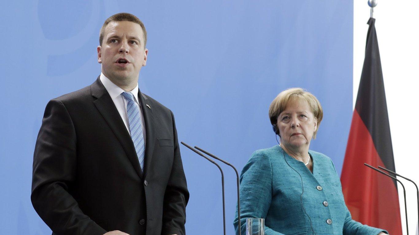 Estonský premiér Jüri Ratas chce naplnění uprchlických kvót.