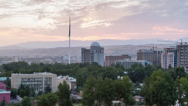 Dušanbe, hlavní město Tádžikistánu.