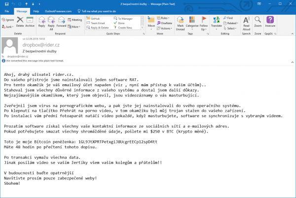 Vyděračský e-mail