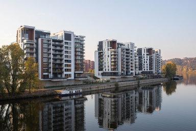 Na spotřebitelských cenách se nejvíce podepsal růst cen bydlení. Na ilustračním snímku je bytový projekt Marina Island od developerských společností Lighthouse Group a Daramis.