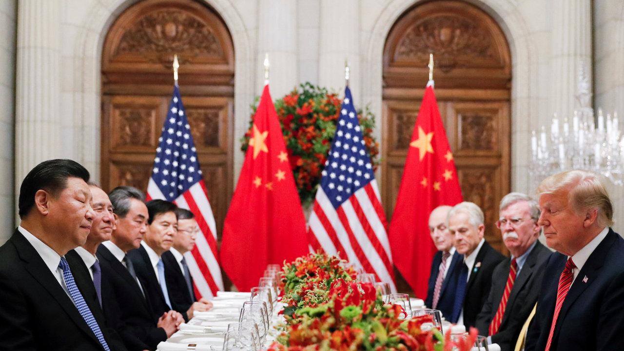 USA Čína Trump Si Ťin-pching