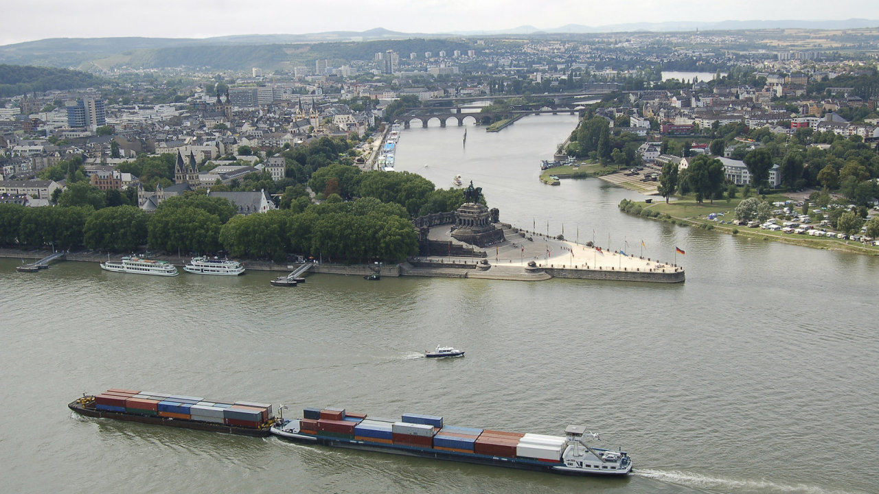 Koblenz - Rýn a Mosela