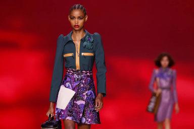 Kolekce značky Louis Vuitton na Pařížském týdnu módy v minulém týdnu.
