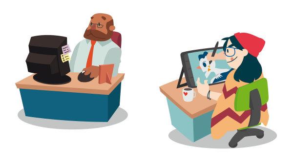 Pro mileniály je dle výzkumu společnosti Deloitte důležitá jistá dávka svobody aflexibility. Nadruhou stranu tráví vpráci daleko více času, než trávili jejich rodiče. Průměrně 45 hodin týdně.