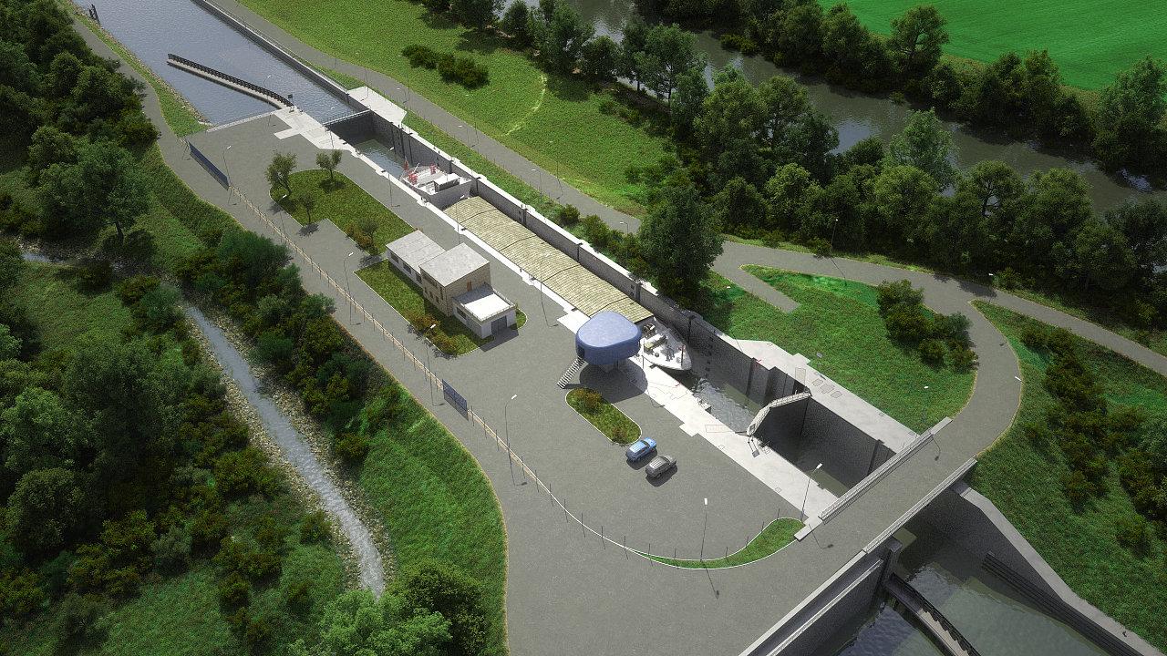 Uvažovaná podoba kanálu Dunaj–Odra–Labe