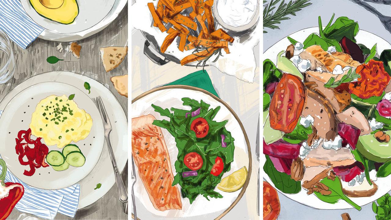 Tipy, co si připravit ksnídani, obědu ivečeři, abyste šli sdobou asvému zdraví naproti.