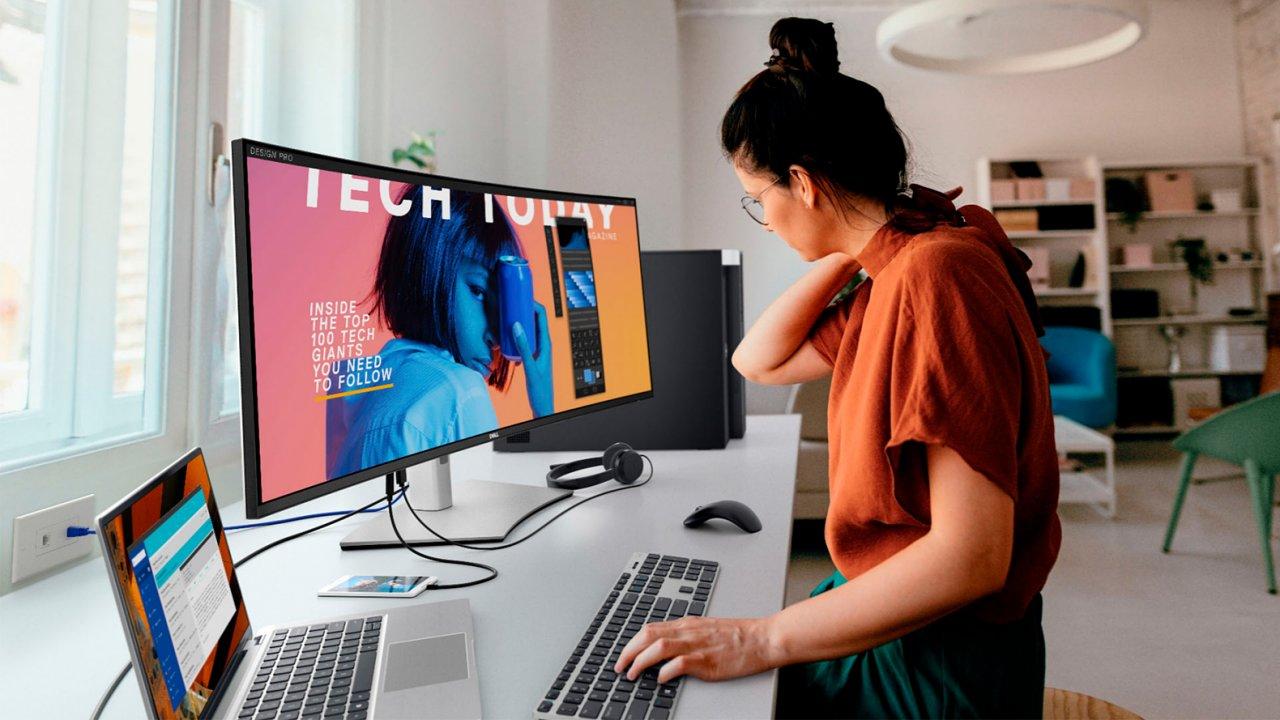 Dell UltraSharp U4021QW umí být jedním monitorem pro dva počítače i dvěma monitory pro jedno PC.