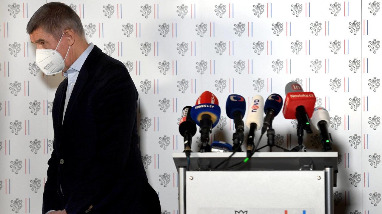 Andrej Babiš po tiskové konferenci ke kauze Vrbětice