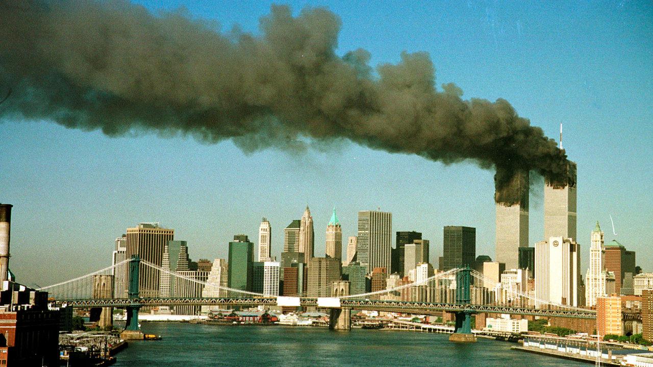 Teroristický útok na Světové obchodní centrum v New Yorku, 11. září 2001.