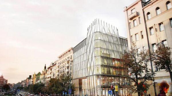 Návrh skleněného domu na Václavském náměstí