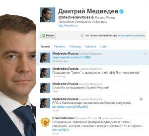 Twitter ruského prezidenta Medveděva