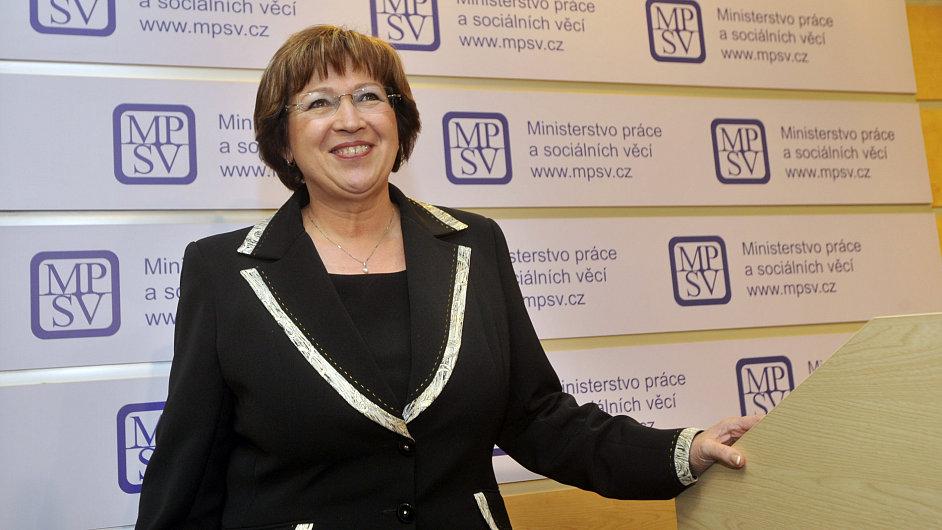 Ministryně práce a sociálních věcí Ludmila Müllerová (TOP 09)