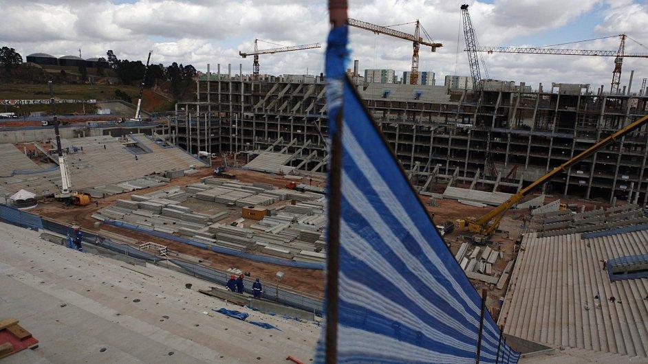 V Sao Paulu se staví stadion pro fotbalové MS