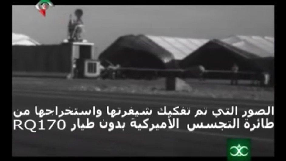 Záznam z amerického bezpilotního letounu