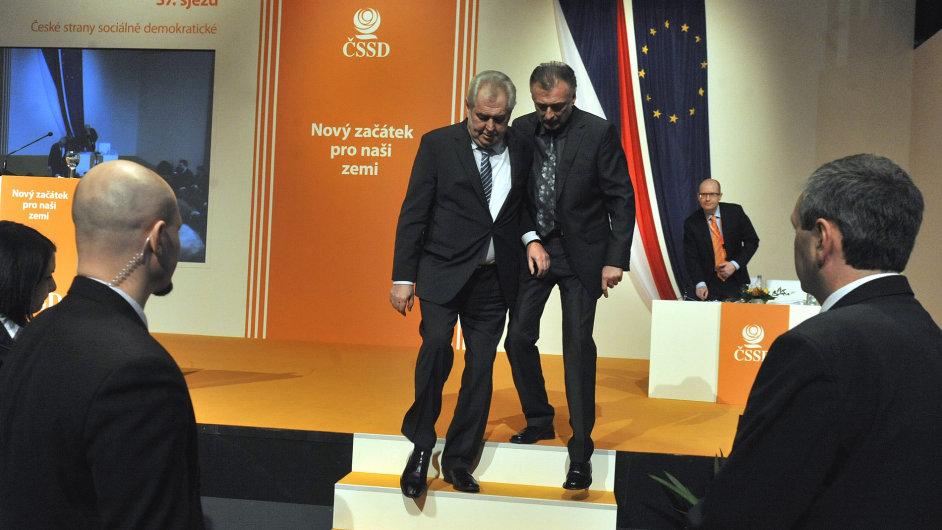 Miloš Zeman na sjezdu ČSSD
