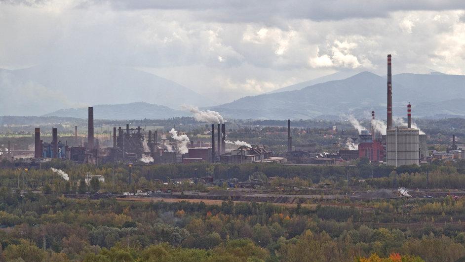 Arcelor Mittal, pohled z haldy Ema