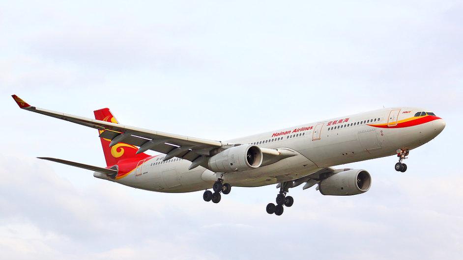Linku mezi Pekingem a Prahou bude obsluhovat čínské aerolinky Hainan.