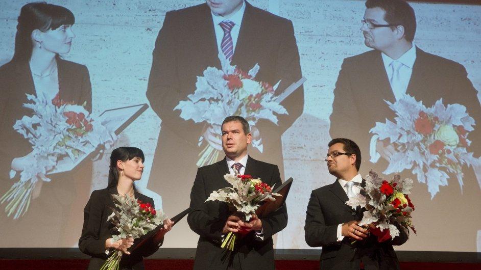 Slavnostní vyhlášení Cen Technologické agentury. Cenu za ekonomický přínos získal projekt výzkumníku z VUT a firmy Moravia Cans.