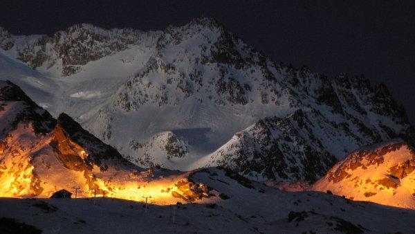 St�edisko Val Thorens le�i v oblasti Les Trois Vall�es v savojsk�ch Alp�ch.