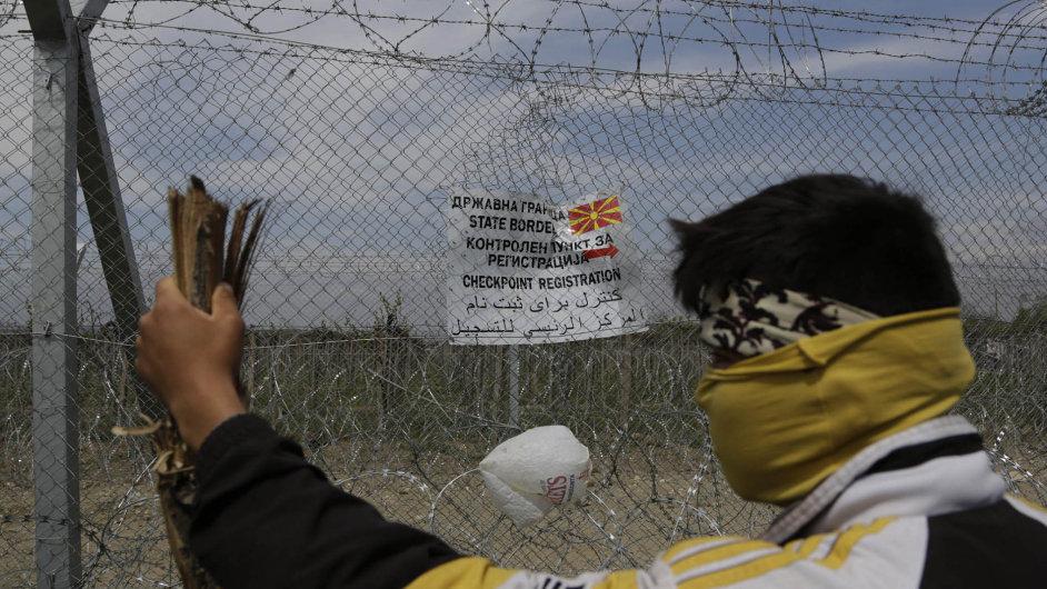 Uprchlíci ze syrské války na řecko-makedonské hranici