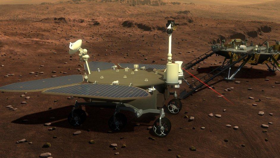 Čína, vozítko, Mars