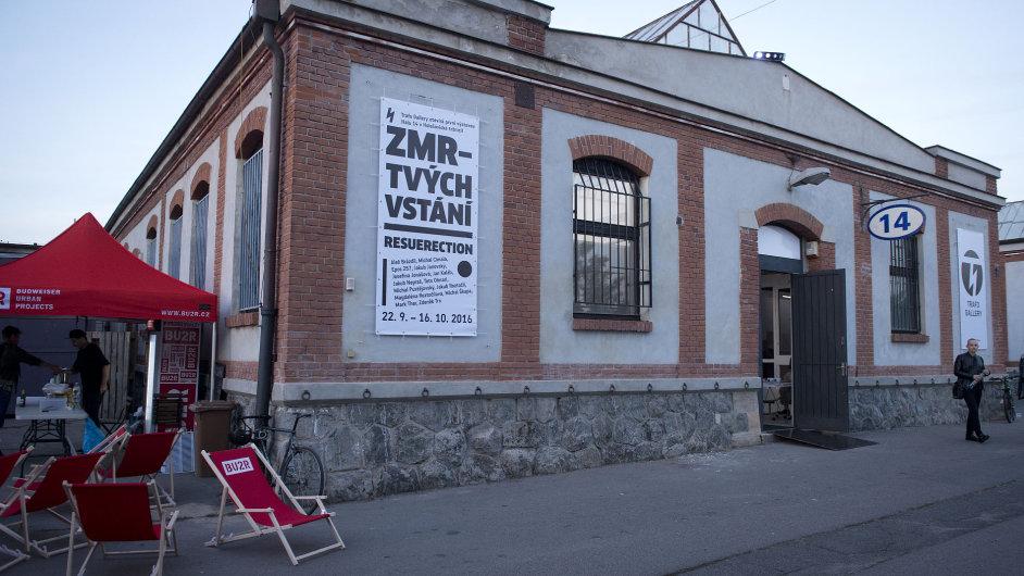 Snímek z výstavy v galerii Trafačka