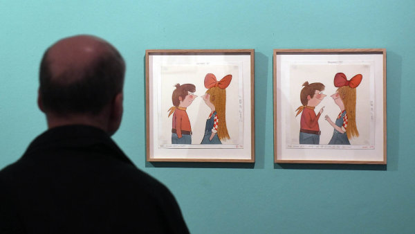 Snímek z výstavy Adolfa Borna.