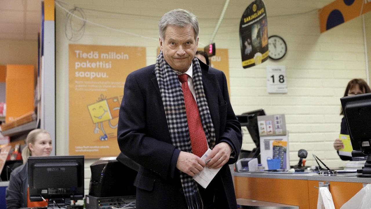 Současný finský  prezident Sauli Niinistö.