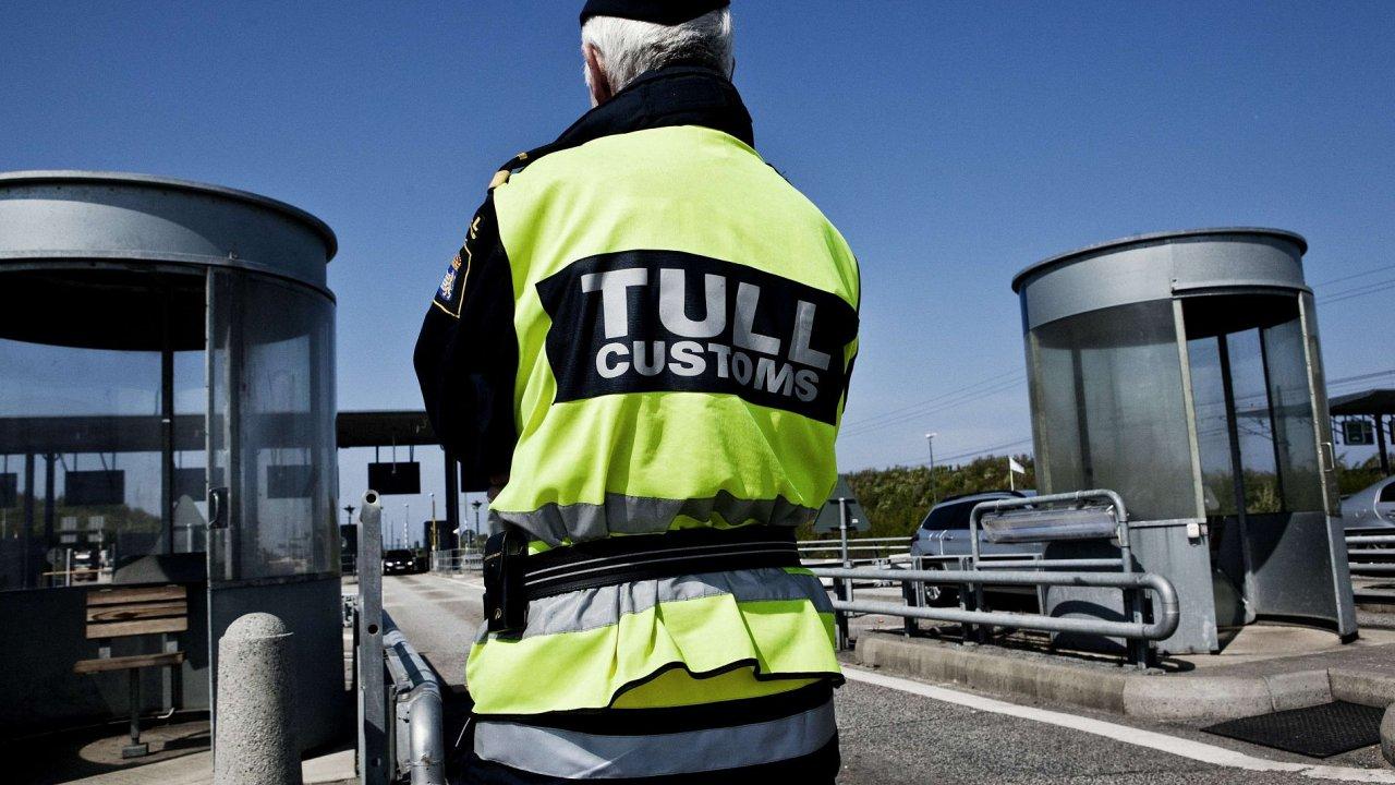 Dánská celnice na hranici se Švédskem