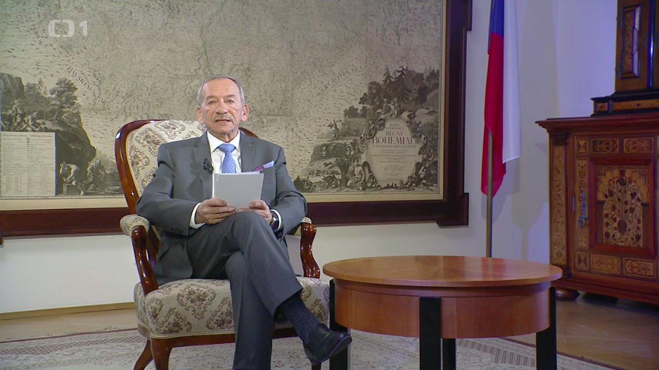 Předseda Senátu Jaroslav Kubera a jeho novoroční projev.