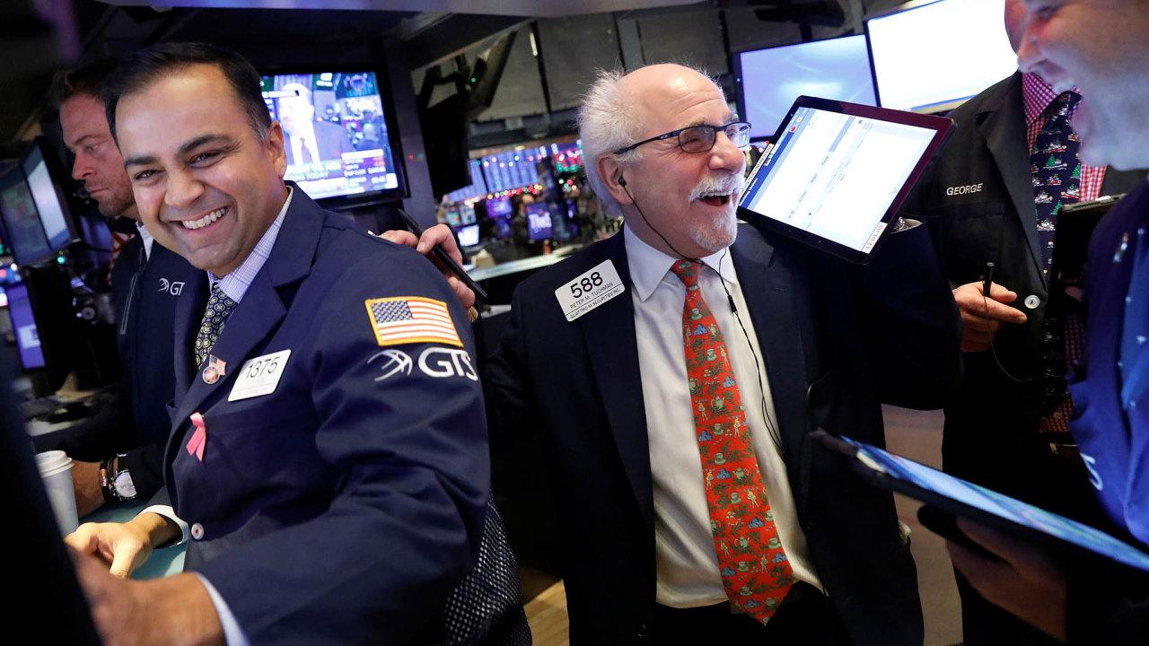 Na světových burzách bylo letos dost důvodů k úsměvům. Snímek je z newyorské NYSE.