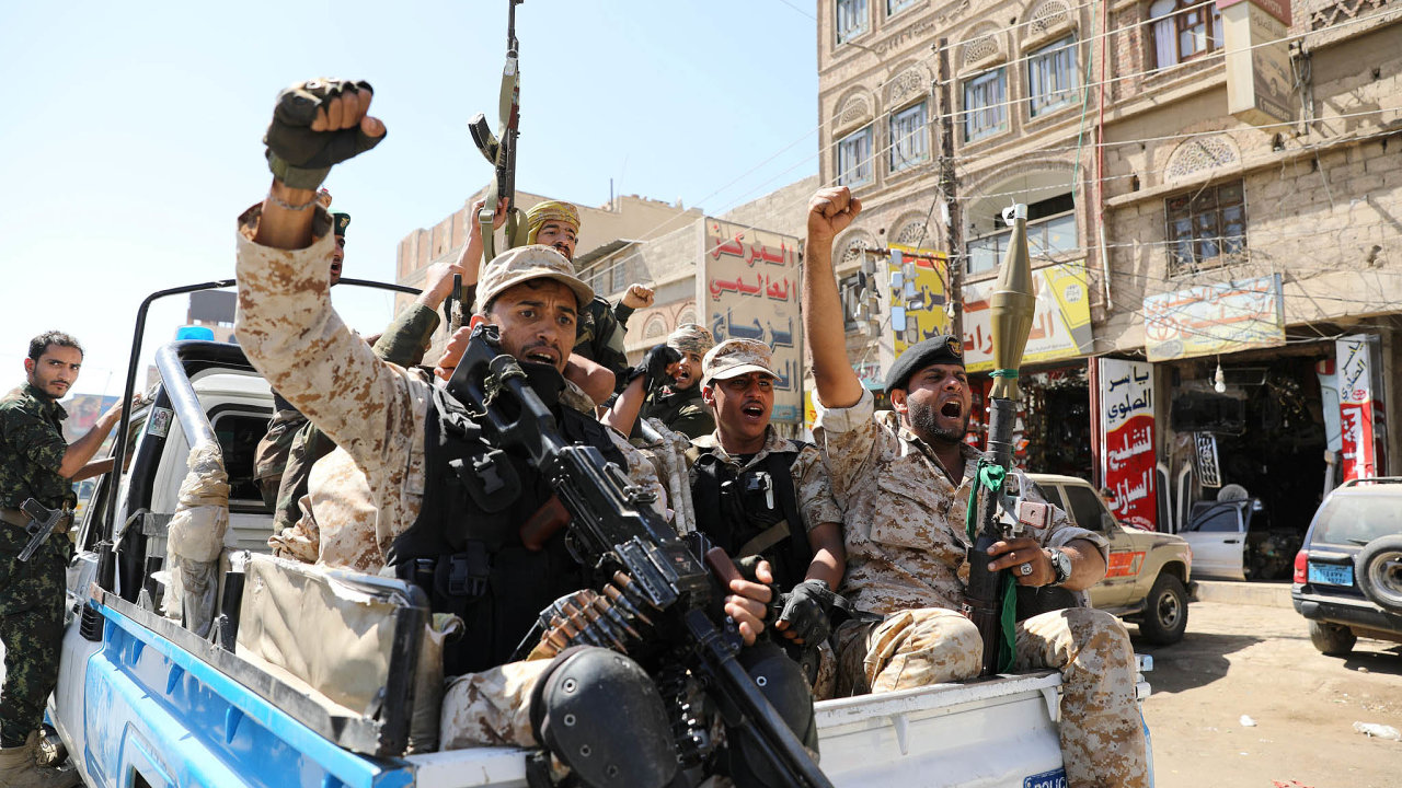 Jednotky šíitských húsijských povstalců podporuje Írán.