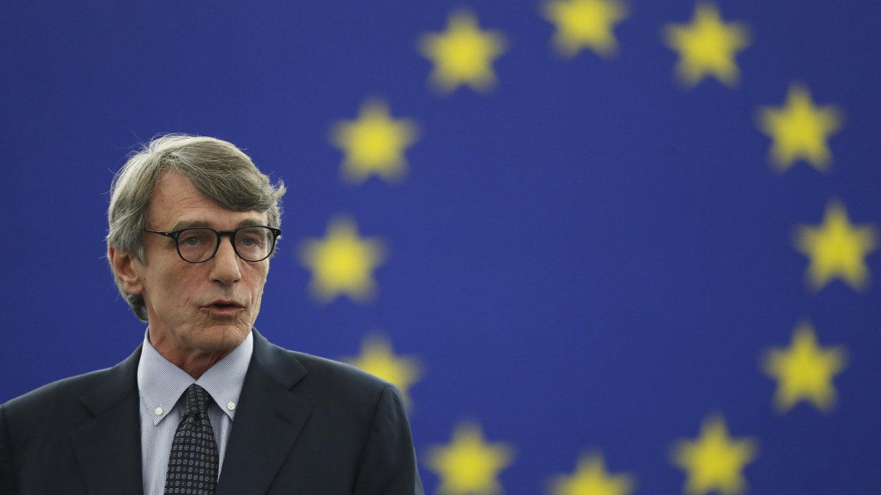 Italský socialista David-Maria Sassoli se stal novým předsedou Evropského parlamentu.