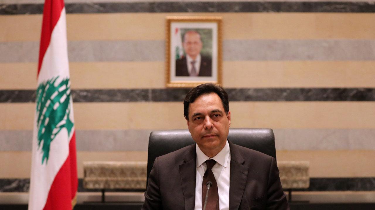 Libanonský premiér Hasan Dijáb.
