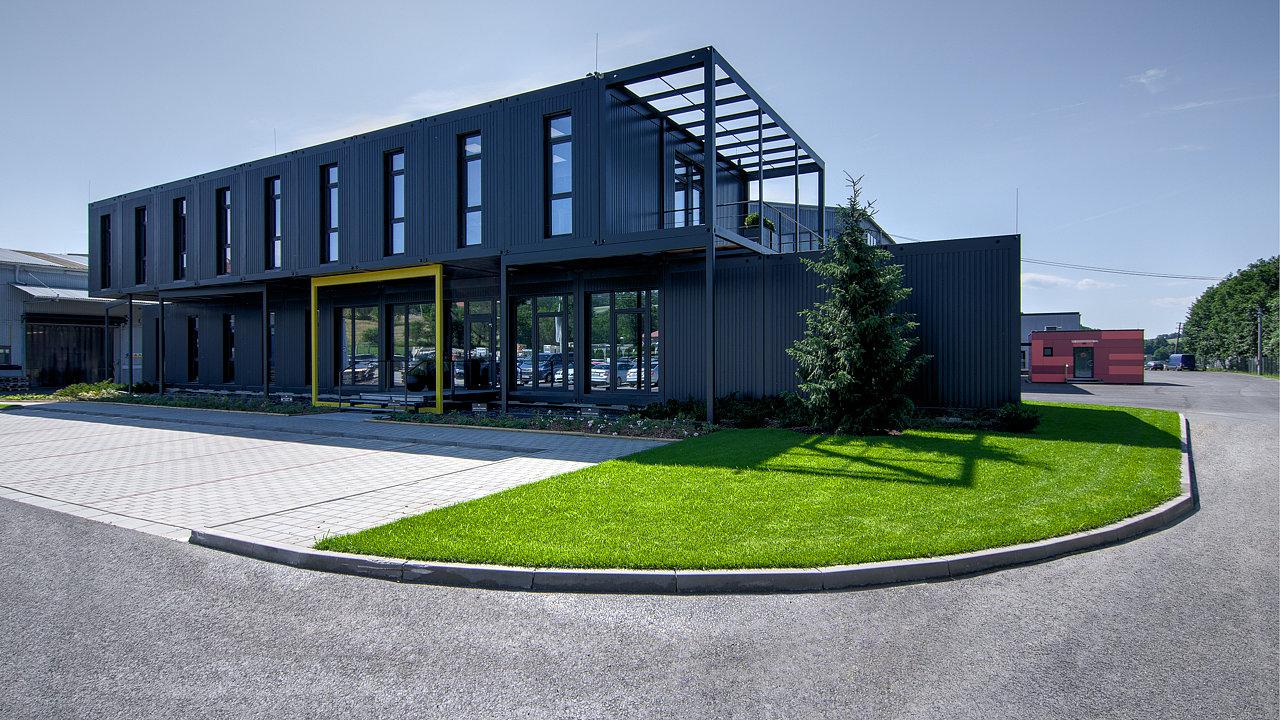 Modulární administrativní budova společnosti Contimade postavená v roce 2017.