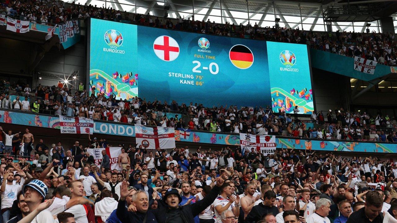 Fotbal Euro 2021 Anglie Německo