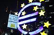 Znak společné měny euro, ilustrační foto