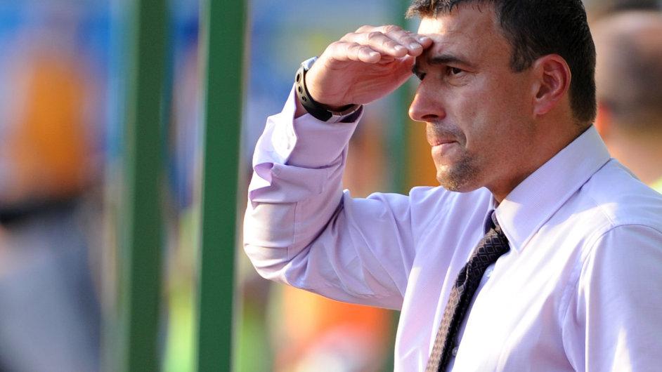 Trenér Michal Petrouš.