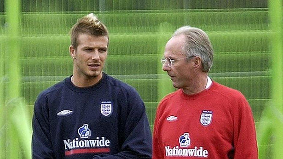 Sven-Göran Eriksson (vpravo) a David Beckham