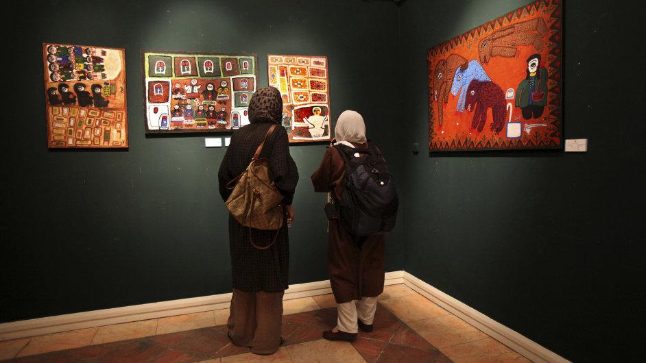 Interiér umělecké galerie v Teheránu.